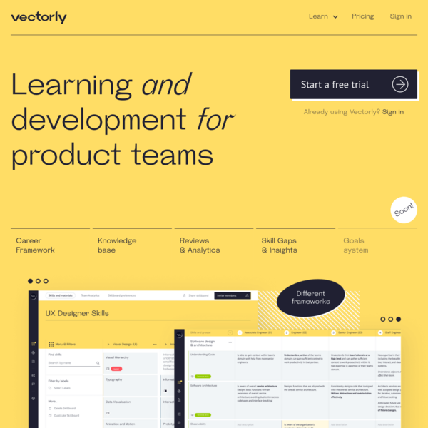 Vectorly | Learning & Development for Product Teams