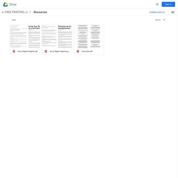 Resources - Google Drive