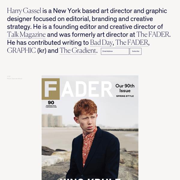 Harry Gassel - Art director