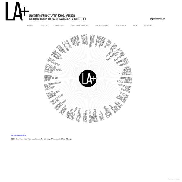 © 2015 Department of Landscape Architecture, The University of Pennsylvania School of Design