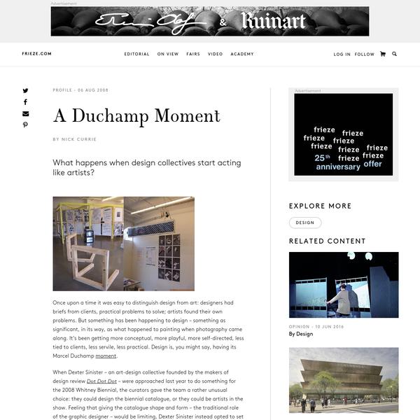 A Duchamp Moment