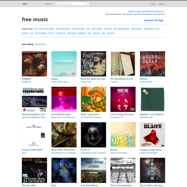 "See all artists, albums, and tracks tagged with ""free music"" on Bandcamp."
