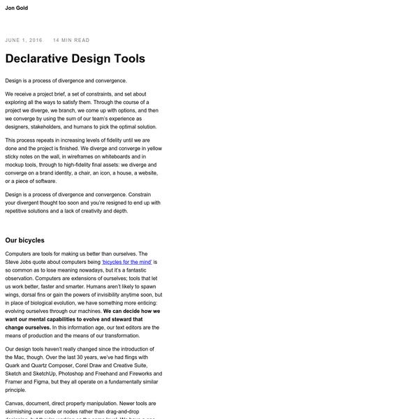 Declarative Design Tools