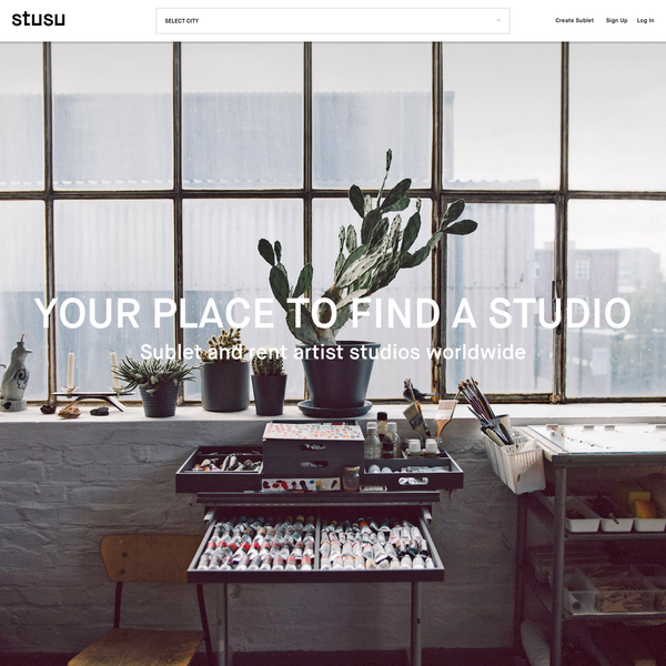 stusu is the first global online platform for artist studio sublets.