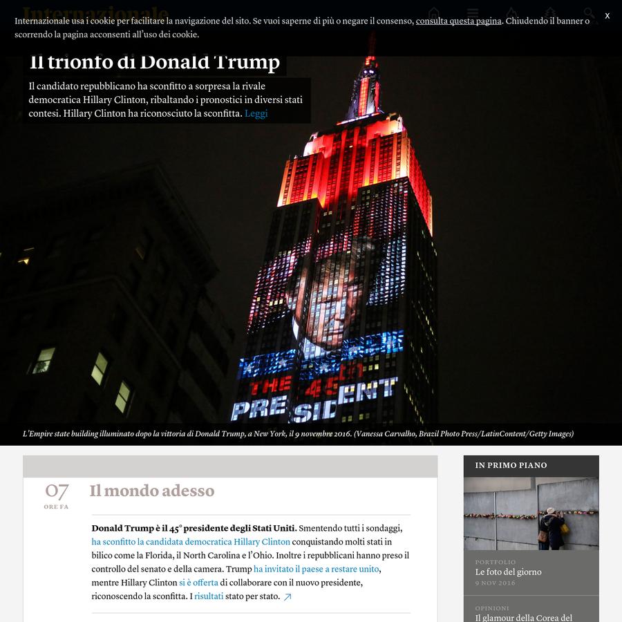 Notizie, commenti, articoli, reportage, foto e video da tutto il mondo scelti dalla redazione di Internazionale.
