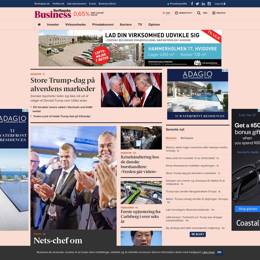 Business.dk giver dig skarp og interessant erhvervsjournalistik med kant. Her får du nyheder, tv, reportager og dybdegående analyser om dansk erhvervsliv.