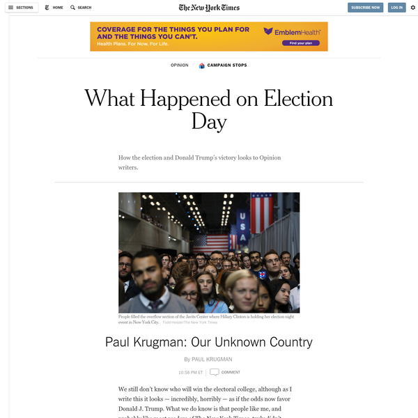 Paul Krugman: Our Unknown Country