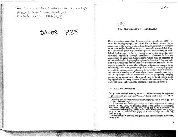 sauer-1925.pdf - The Morphology of Landscape