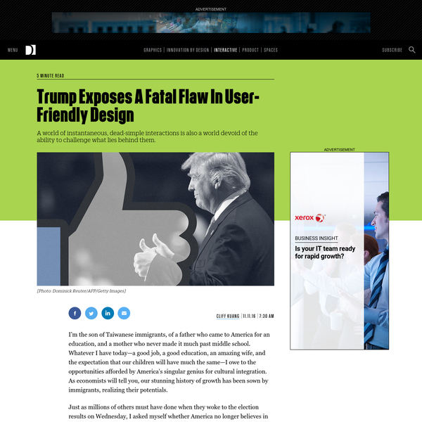 Trump Exposes A Fatal Flaw In User-Friendly Design