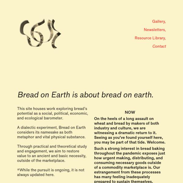 Bread on Earth
