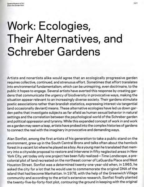 Smith Valerie - Work: Ecologies, their Alternatives and Schreber Gardens