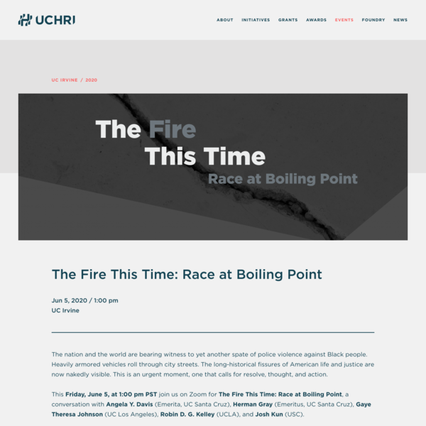 The Fire This Time: Race at Boiling Point