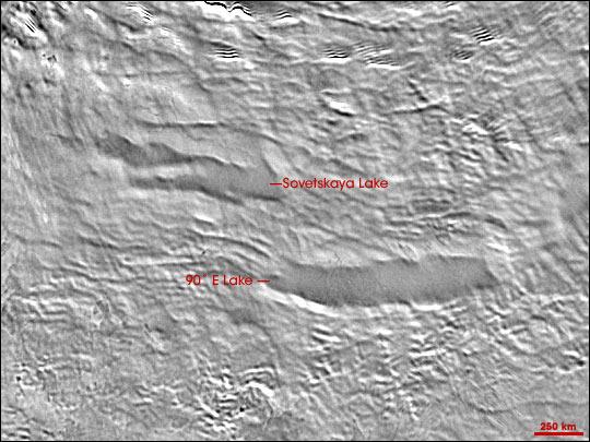 Subglacial lakes in Antartica