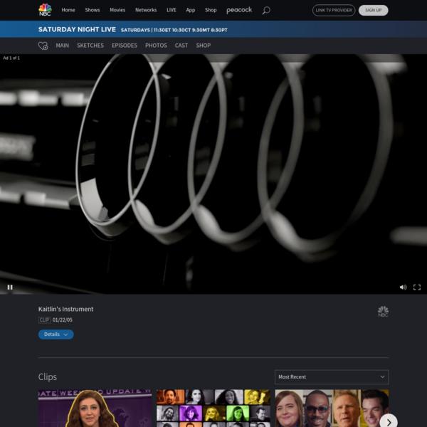 Watch Saturday Night Live Highlight: Kaitlin's Instrument - NBC.com