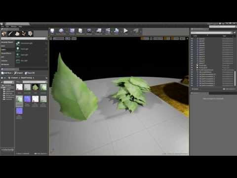 Ue4: advanced materials (Ep. 10 setting up wind on leaves/grass)