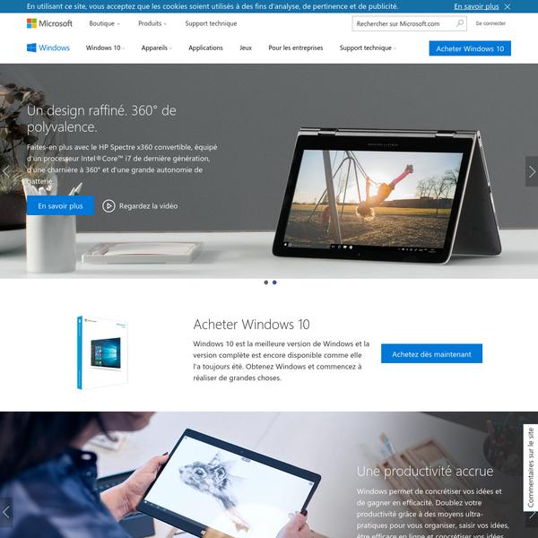 Windows   Site officiel pour systèmes d'exploitation, ordinateurs portables, PC, tablettes Microsoft Windows 10 et bien plus encore
