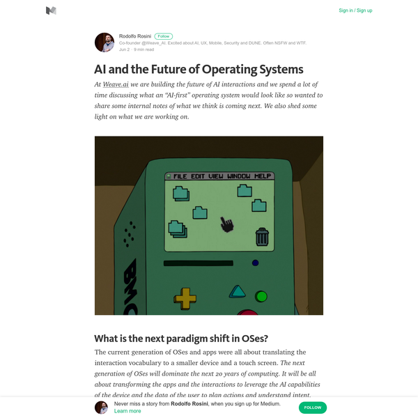 AI and the Future of Operating Systems