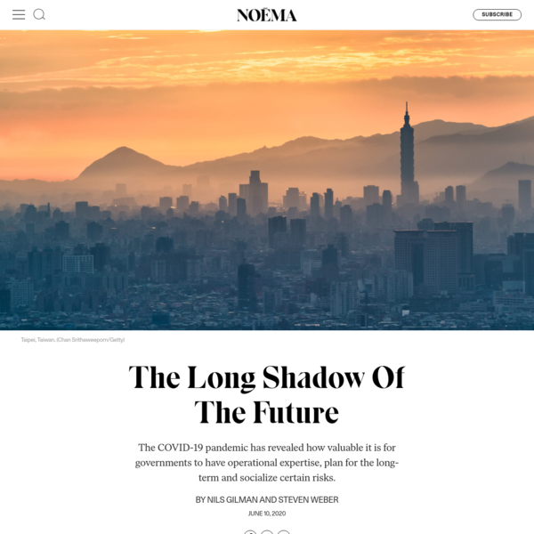 The Long Shadow Of The Future - NOEMA