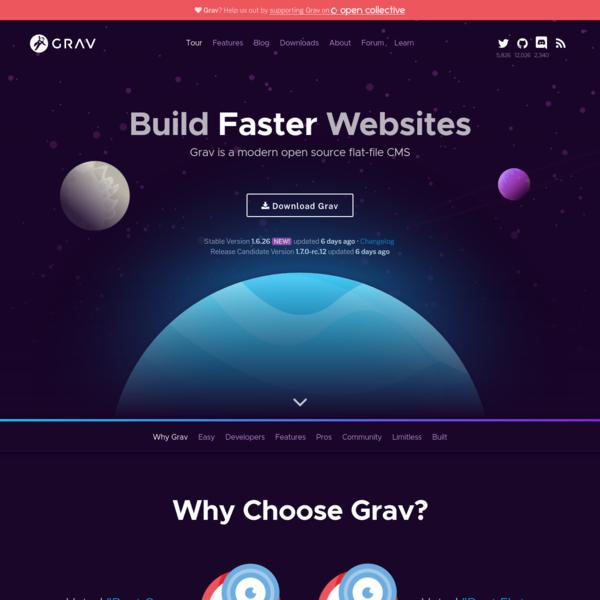Grav - A Modern Flat-File CMS