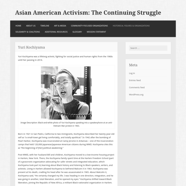 Asian American Activism: The Continuing Struggle