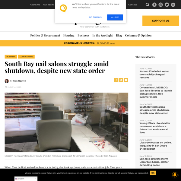South Bay nail salons struggle amid shutdown, despite new state order - San José Spotlight