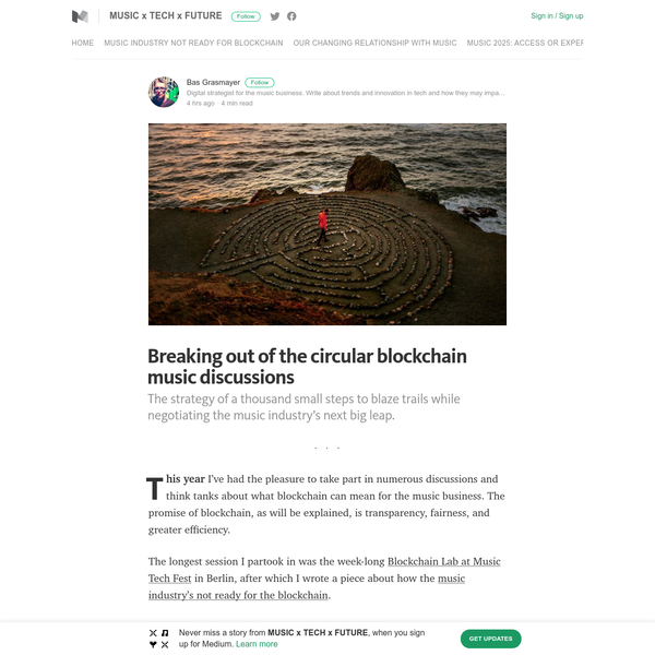 Breaking out of the circular blockchain music discussions - MUSIC x TECH x FUTURE