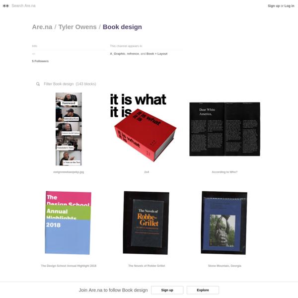 Book design - Are.na