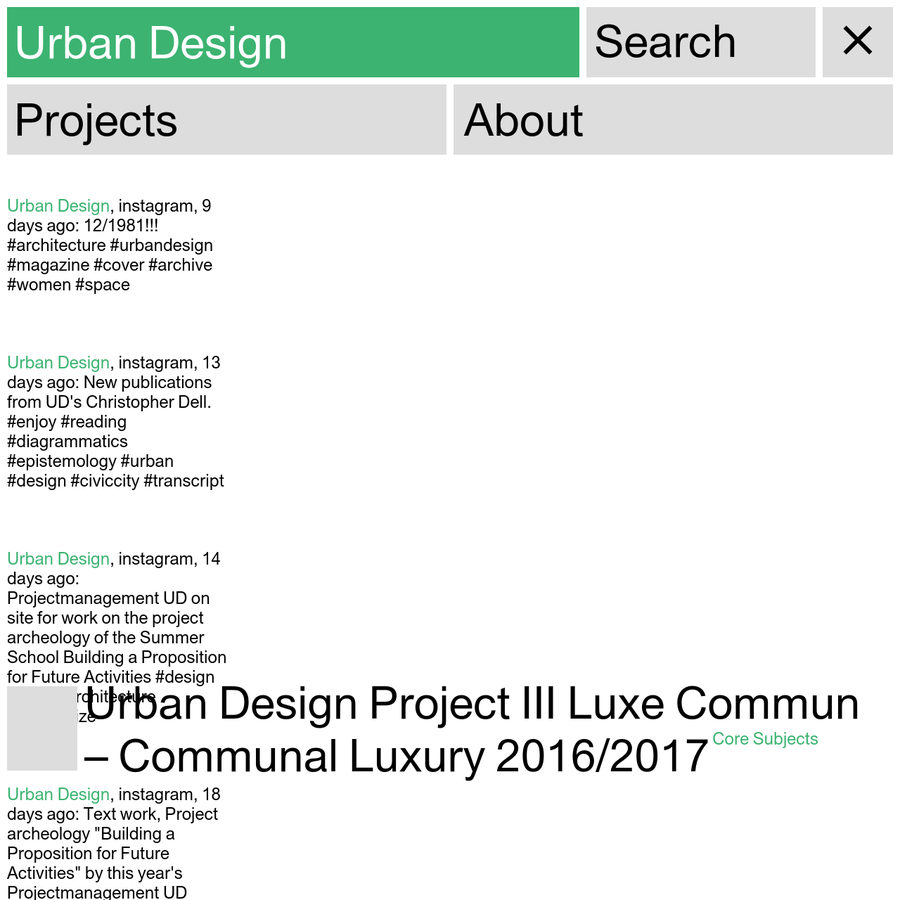 UD is concerned with the urban: Its object is the contemporary-future urban society in the practice(d) forms of its co- and constant re-production. To understand the city as historically developed and produced involves turning to its uses through very diverse users and ways of use - it is from within this assemblage of practices of humans and things that the interdependencies of the urban emerge.