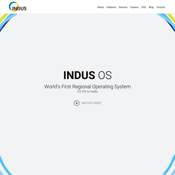 Indus OS - Indian smartphone operating system
