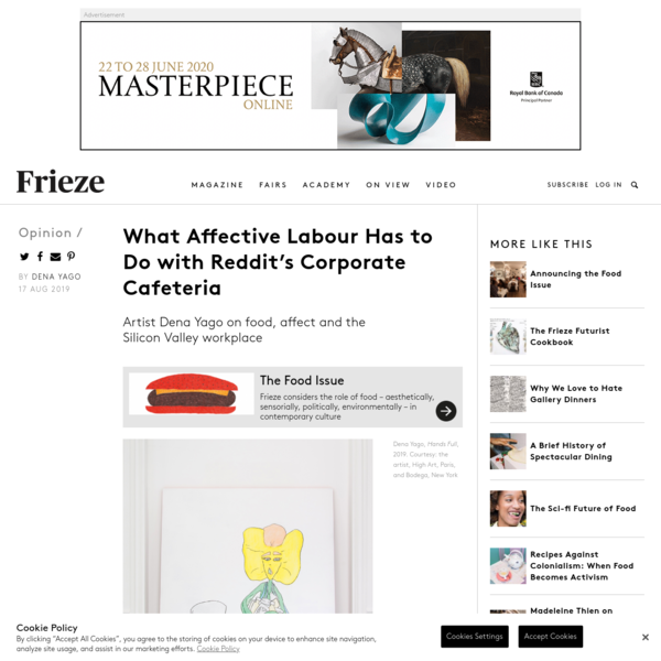 What Affective Labour Has to Do with Reddit's Corporate Cafeteria | Frieze