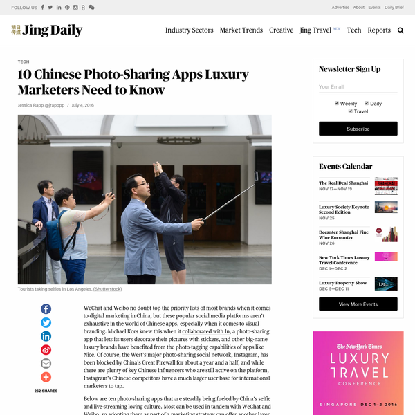 10 Chinese Photo-Sharing Apps Luxury Marketers Need to Know | Jing Daily