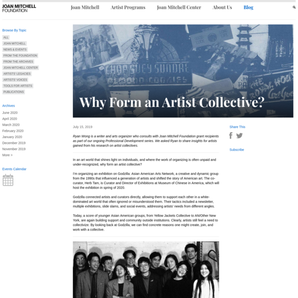 Why Form an Artist Collective?