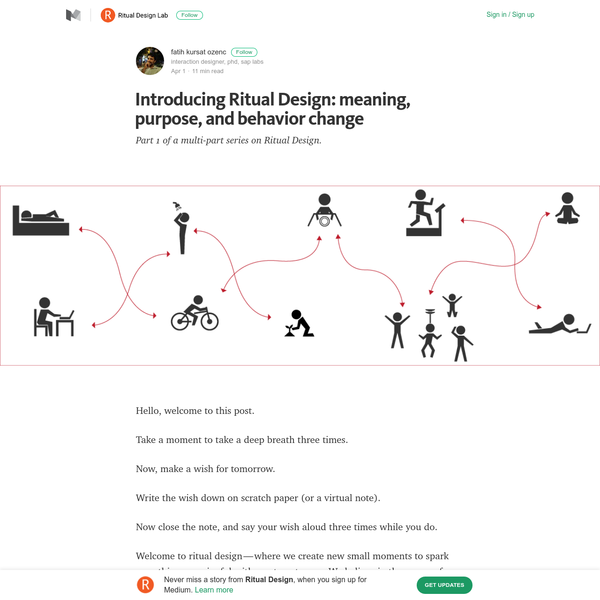 Introducing Ritual Design: meaning, purpose, and behavior change - Ritual Design