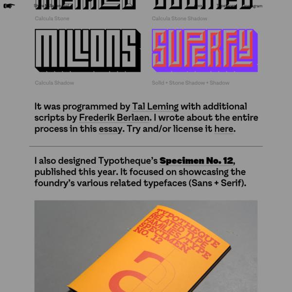 Shiva Nallaperumal   Graphic Design & Typography - Typefaces