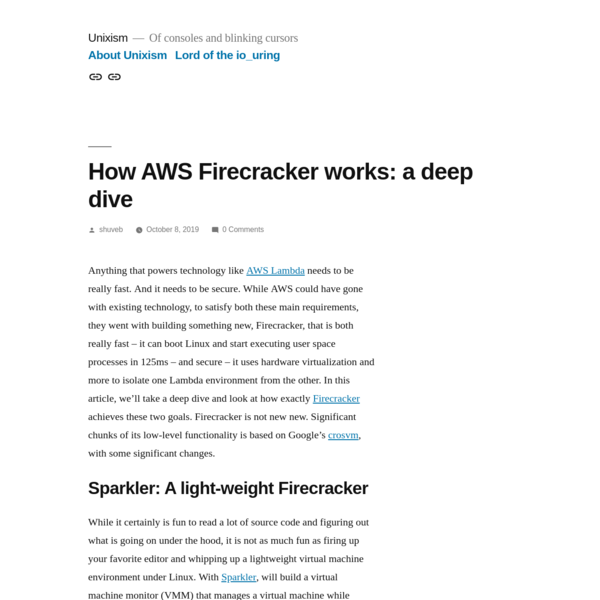 How AWS Firecracker works: a deep dive - Unixism