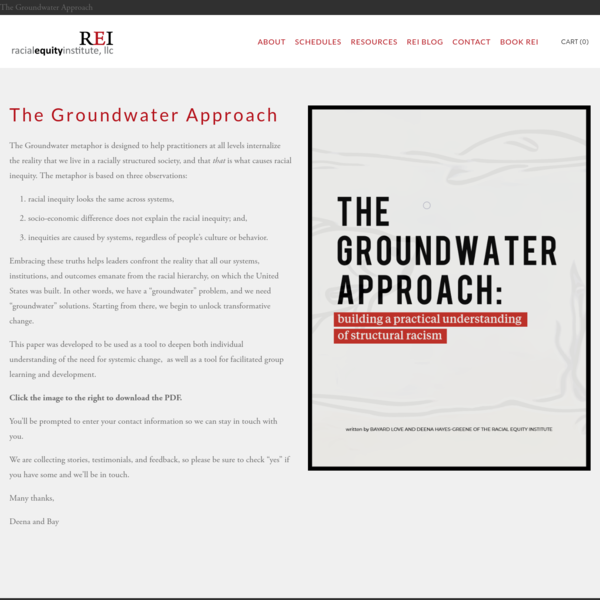 The Groundwater Approach - Racial Equity Institute