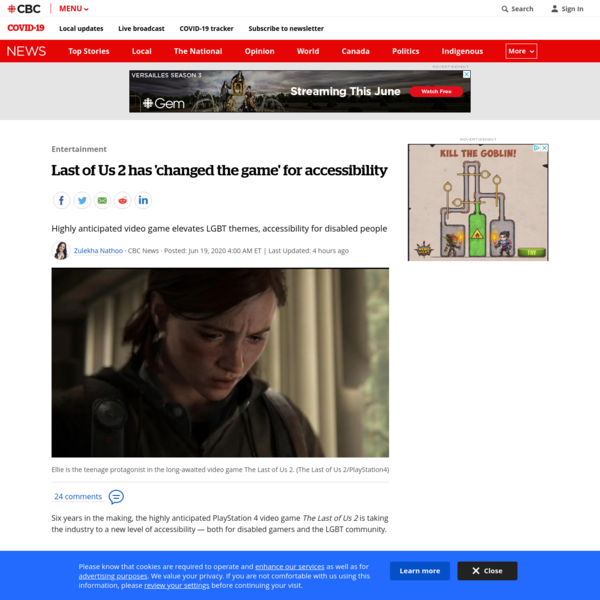 Last of Us 2 has 'changed the game' for accessibility | CBC News
