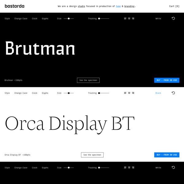 Bastarda Design Studio Focused in Typographic Production
