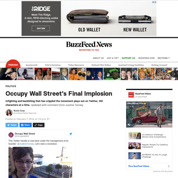 Occupy Wall Street's Final Implosion