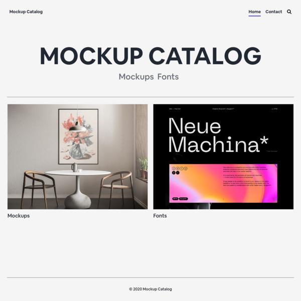 Mockup Catalog