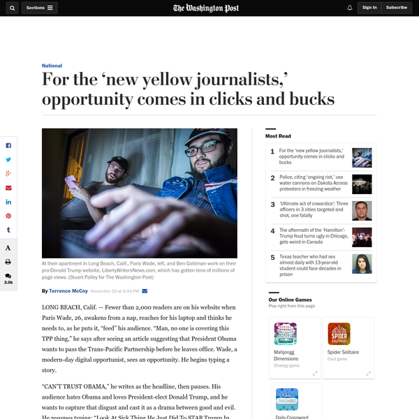 For the 'new yellow journalists,' opportunity comes in clicks and bucks