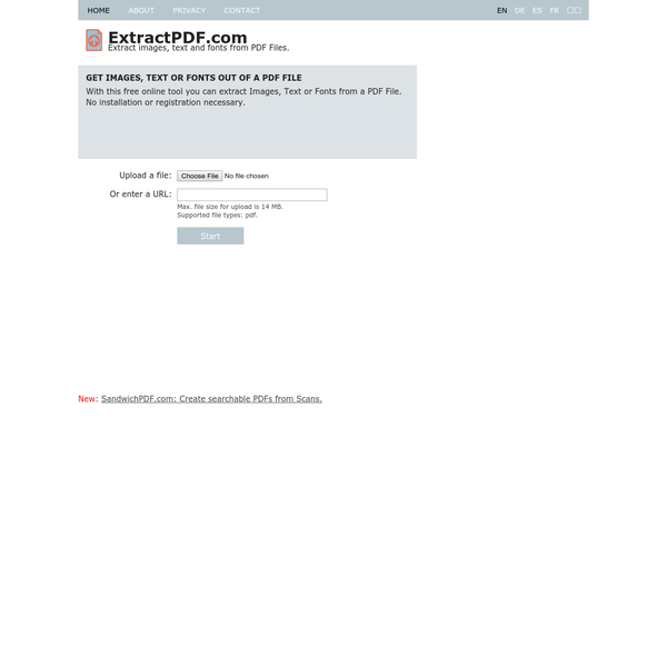 Free online PDF Extractor