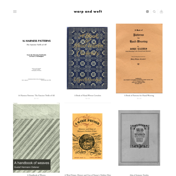 textile books - warp and weft