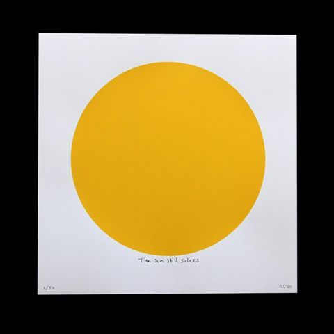 The sun still shines limited edition screen print now available. A simple, colorful reminder to maintain perspective, keep y...
