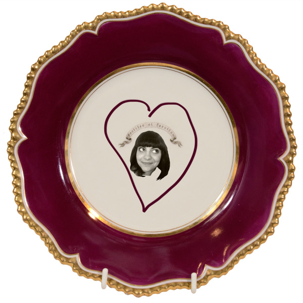 sarah's face on a plate