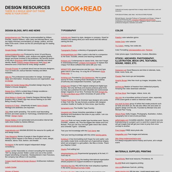 || DESIGN RESOURCES ||
