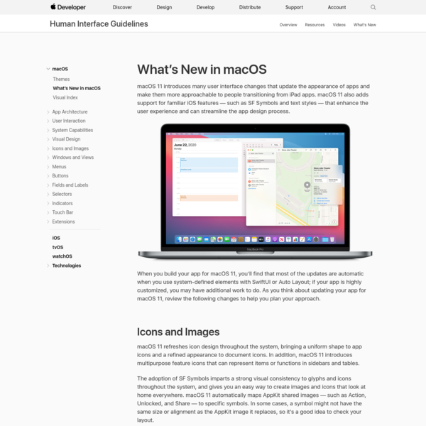 What's New in macOS - macOS - Human Interface Guidelines - Apple Developer