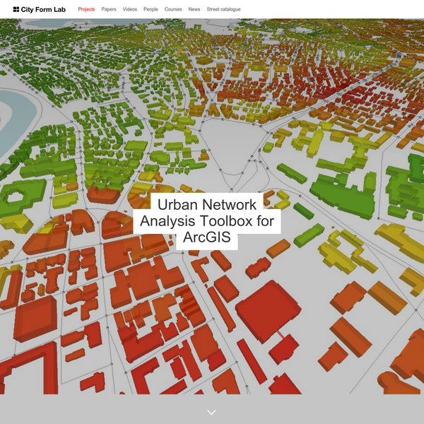 Urban Network Analysis Toolbox for ArcGIS - City Form Lab