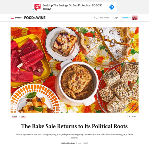 The Bake Sale Returns to Its Political Roots