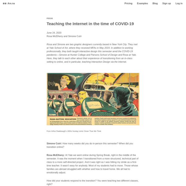 Are.na / Teaching the Internet in the time of COVID-19